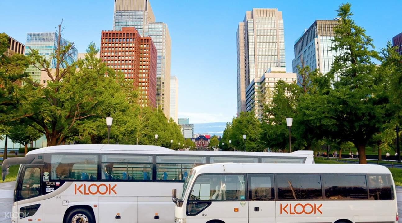 klook tour bus in tokyo